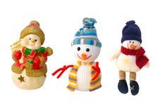 Decoraciones de los muñecos de nieve del Año Nuevo Foto de archivo libre de regalías