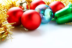 Decoraciones de Navidad Imagen de archivo libre de regalías