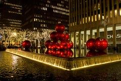 Decoraciones de New York City de la Navidad imagenes de archivo