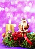 Decoraciones de Papá Noel y de la Navidad Foto de archivo