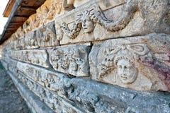 Decoraciones de piedra en Aphrodisias Imágenes de archivo libres de regalías