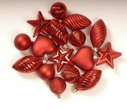 Decoraciones del árbol de navidad imagenes de archivo