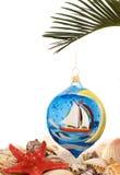 Decoraciones del árbol de navidad Fotos de archivo libres de regalías