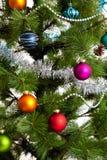 Decoraciones del árbol de navidad 2016 Años Nuevos Foto de archivo libre de regalías