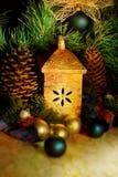 Decoraciones del árbol de navidad, aún vida. Imagenes de archivo