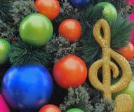 Decoraciones del árbol de navidad del día de fiesta Imagen de archivo libre de regalías