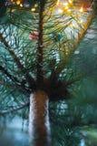 Decoraciones del árbol de navidad en un árbol de navidad Fotos de archivo libres de regalías