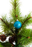 Decoraciones del árbol de navidad 2016 Felices Año Nuevo Foto de archivo libre de regalías