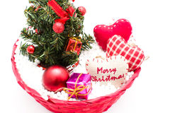 Decoraciones del árbol de navidad y de la Navidad Imagen de archivo