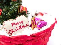 Decoraciones del árbol de navidad y de la Navidad Fotos de archivo