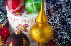 Decoraciones del Año Nuevo foto de archivo libre de regalías