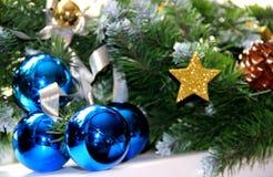 Decoraciones del Año Nuevo Imagen de archivo libre de regalías