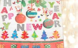 Decoraciones del Año Nuevo de Decoupage hechas del papel Imágenes de archivo libres de regalías