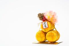 Decoraciones del Año Nuevo de Japón Imagen de archivo libre de regalías