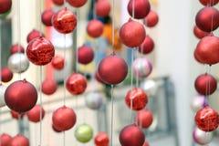 Decoraciones del Año Nuevo de la bola Imagen de archivo libre de regalías