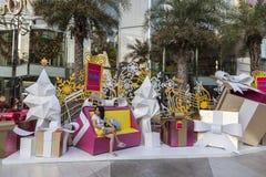 Decoraciones del Año Nuevo en Bangkok Foto de archivo libre de regalías