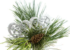 Decoraciones del Año Nuevo y de la Navidad Fotografía de archivo