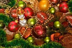 decoraciones del Chrismas-árbol Imagenes de archivo