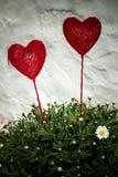 Decoraciones del corazón fotografía de archivo libre de regalías