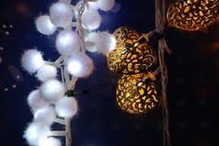Decoraciones del corazón de la Navidad imágenes de archivo libres de regalías