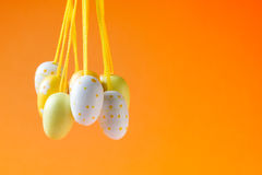 Decoraciones del huevo de Pascua Imagenes de archivo