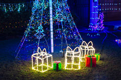 Decoraciones del jardín de la Navidad Fotografía de archivo