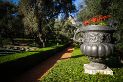 Decoraciones del jardín del ` i de Haifa - de Baha Imagen de archivo