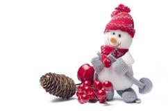 Decoraciones del muñeco de nieve del Año Nuevo Imagen de archivo