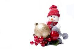 Decoraciones del muñeco de nieve del Año Nuevo Imagenes de archivo