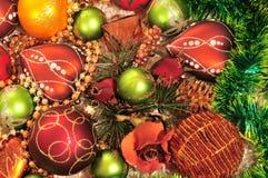 decoraciones del Navidad-árbol Fotos de archivo
