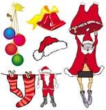 decoraciones del Navidad-árbol Fotografía de archivo libre de regalías