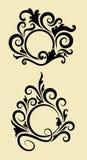 Decoraciones del ornamento del círculo Foto de archivo