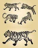 Decoraciones del ornamento del tigre Fotos de archivo