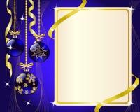 Decoraciones del papel y de la Navidad ilustración del vector