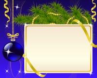 Decoraciones del papel y de la Navidad stock de ilustración