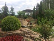 Decoraciones del parque del parque zoológico de Kharkov imagen de archivo libre de regalías