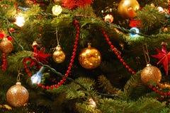 Decoraciones del árbol de navidad Foto de archivo
