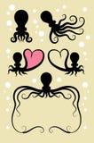 Decoraciones del símbolo del pulpo Imagen de archivo libre de regalías