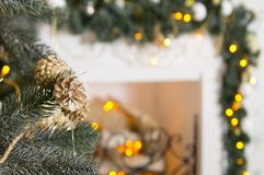 Decoraciones del ` s del Año Nuevo Fondo enmascarado Fotografía de archivo libre de regalías