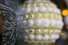 Decoraciones del ` s del Año Nuevo Fondo enmascarado Fotos de archivo libres de regalías