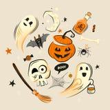 Decoraciones del vector del diseño de Halloween libre illustration