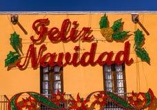 Decoraciones Dolores Hidalgo Mexico de la Feliz Navidad Fotografía de archivo