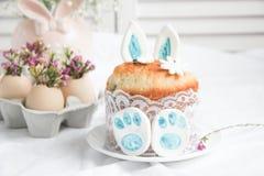 Decoraciones e invitaciones de Pascua Foto de archivo libre de regalías