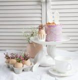 Decoraciones e invitaciones de Pascua Fotografía de archivo