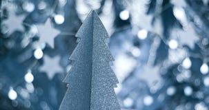 Decoraciones elegantes hermosas de la Navidad Foto de archivo