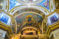 Decoraciones en catedral del St Isaac Fotografía de archivo