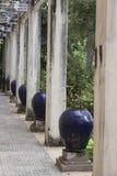 Decoraciones en jardín chino Fotografía de archivo