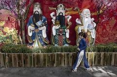 Decoraciones en la ciudad de Ho Chi Minh, Vietnam imágenes de archivo libres de regalías