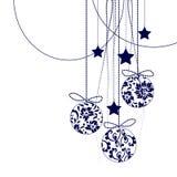 Decoraciones en negro - elementos de la Navidad del vector ilustración del vector