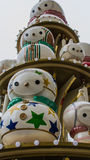 Decoraciones exteriores de la Navidad Foto de archivo libre de regalías